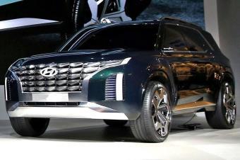 再等13天,现代全尺寸SUV正式发布,采用2+2+3布局