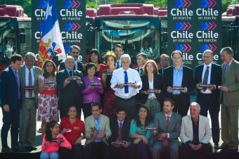 比亚迪电动大巴进拉美 智利举行百车交付仪式