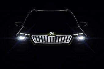 斯柯达Vision X量产版预告图曝光 日内瓦车展首发