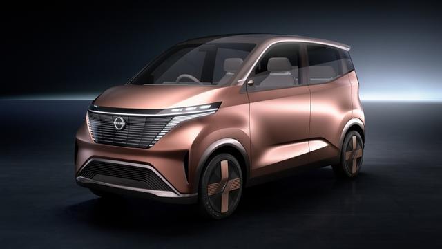 打造零排放出行理念日产汽车发布IMk纯电动概念车