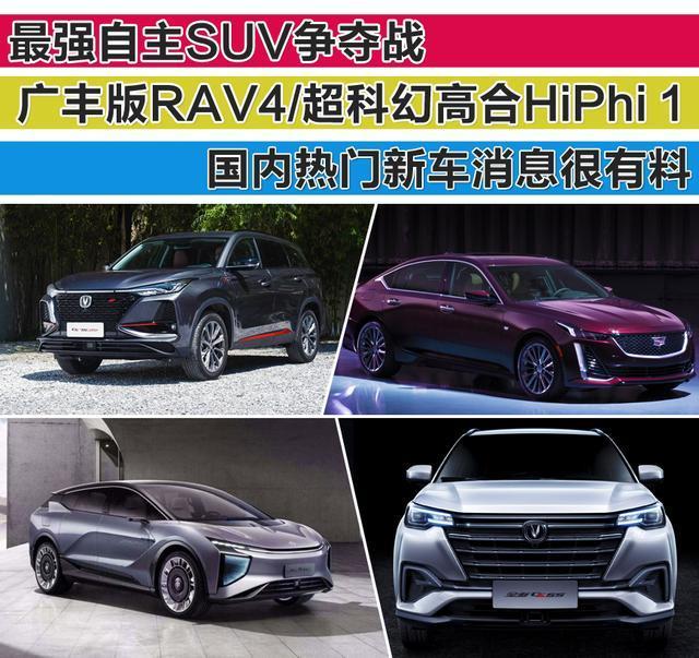最强自主SUV争夺战/广丰版RAV4威兰达/1国内热门新车消息很有料