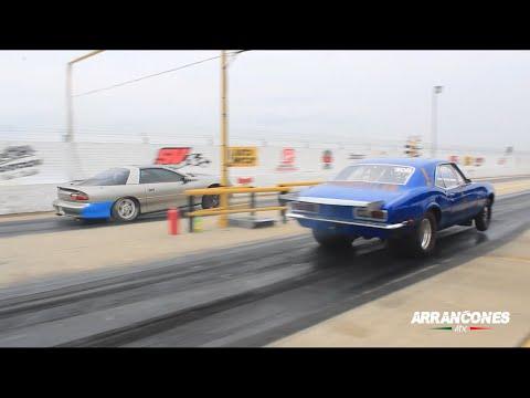 【视频】大马力改装车直线竞速,差点要飞起来了!