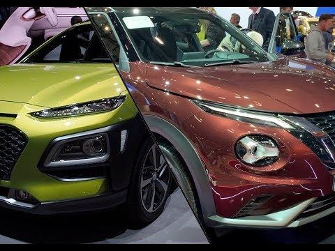 车展实拍:日系车还是韩系车?静态体验对比日产Juke vs 现代Kona