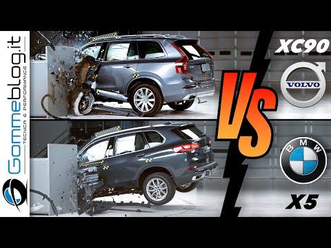沃尔沃 XC90号称最安全SUV,  BMW X5表示不服,那就撞一下试试吧