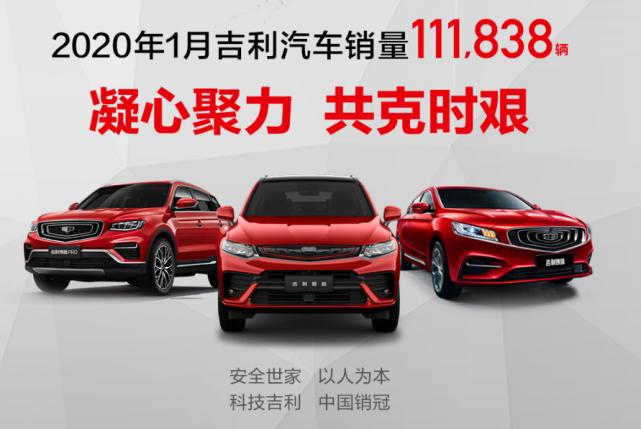 吉利汽车1月销量11.1万辆,市占率再创历史新高!