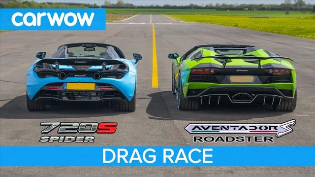 兰博基尼Aventador S跑车vs迈凯轮720S蜘蛛