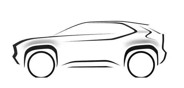 """丰田发布""""B-SUV""""预告图,混动四驱,将于日内瓦车展首发亮相"""