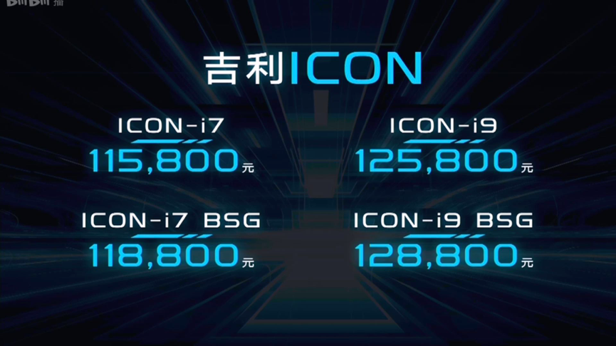 吉利ICON正式上市,四款车型售价11.58万-12.88万元