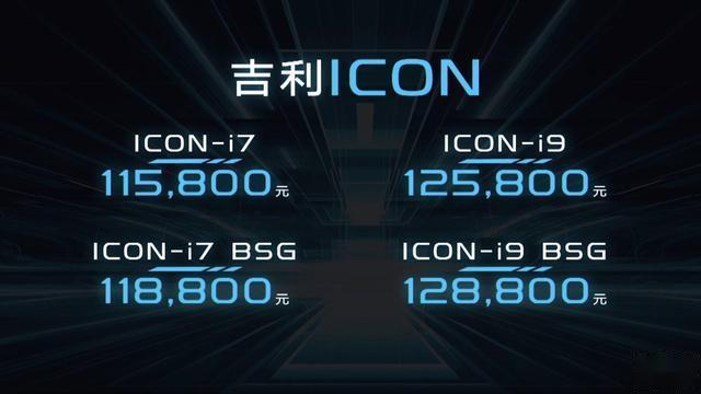 吉利ICON正式上市,11.58万起