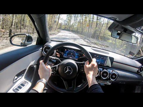 试驾第一视角:梅赛德斯奔驰 A-Class,在树林里体验速度机制