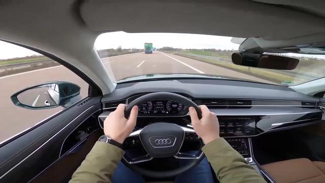 试驾体验2020款全新奥迪A8L,按下钥匙坐进驾驶座,享受开始