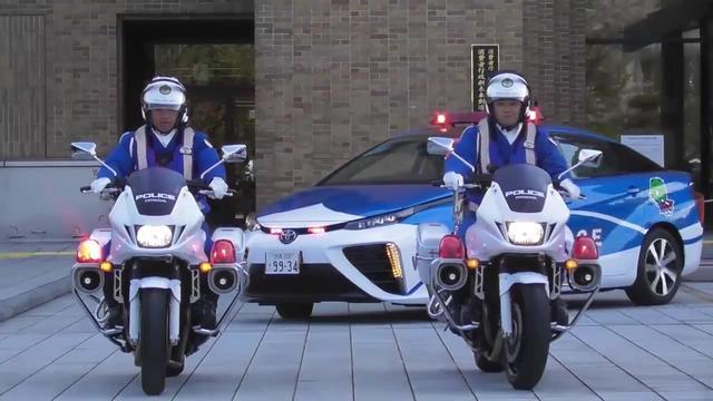 日本第一款FCV警车丰田MIRAI氢动力汽车