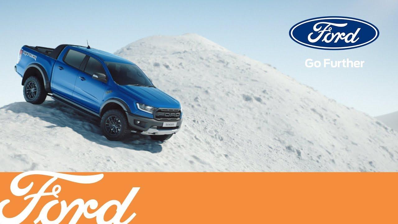 福特游骑兵猛禽试驾展示,在雪地中玩的太嗨