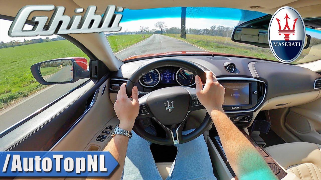 玛莎拉蒂Ghibli轿车第一视角展示,这个速度很强