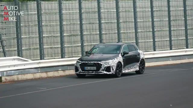 全新奥迪 RS3 Sportback 现身纽博格林测试,排气声音很赞!