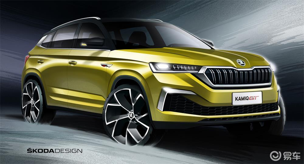 斯柯达全新SUV柯米克GT设计图发布 预计广州车展上市