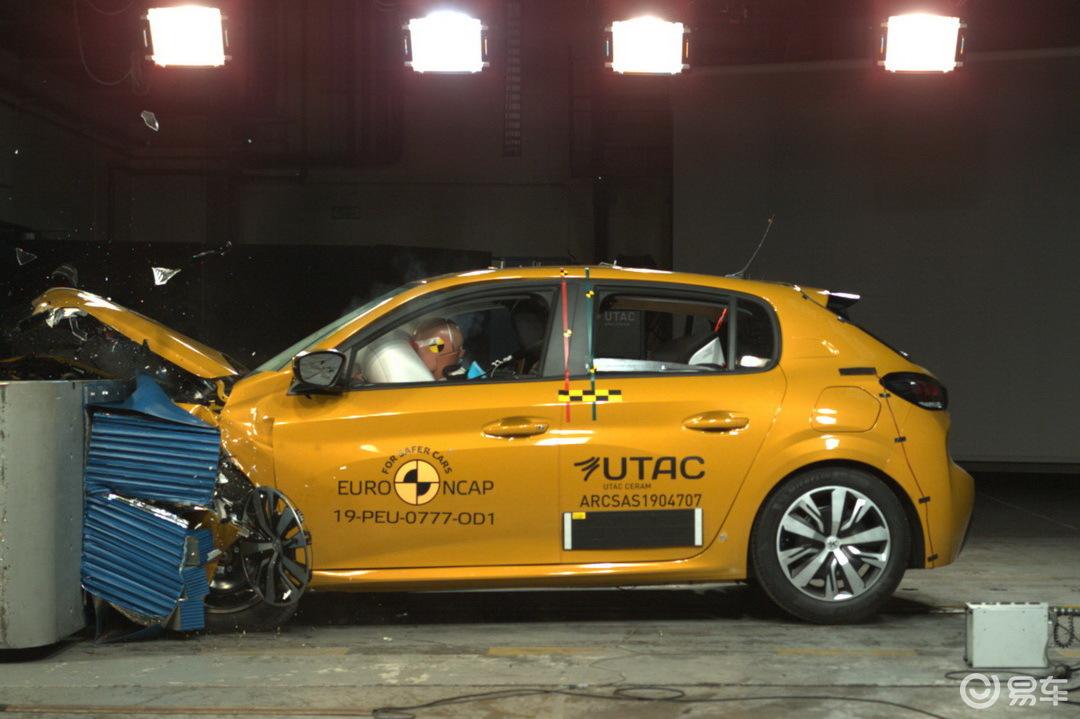 欧洲NCAP碰撞仅拿四星,标致208安全表现逊于Clio