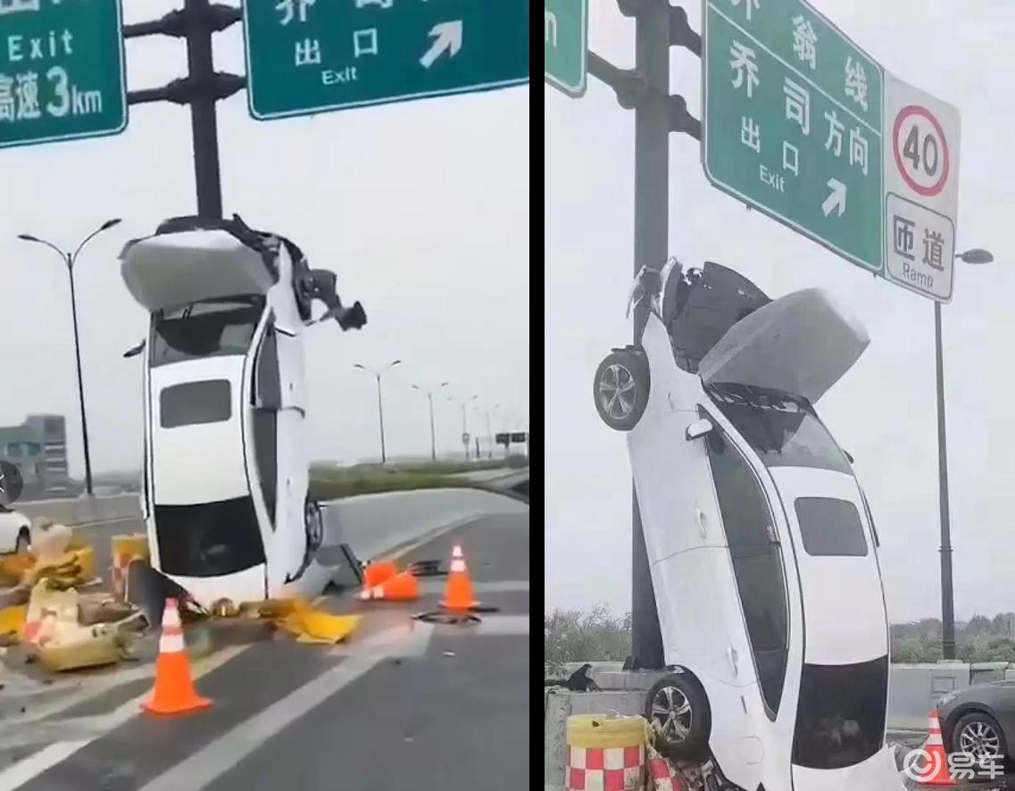 高架桥上垂直90度,杭州女司机把车开出新高度