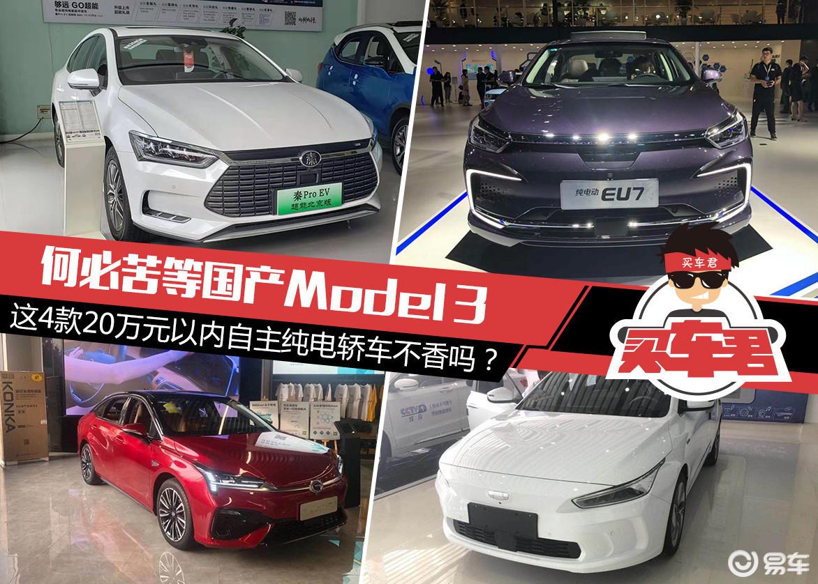 何必苦等国产Model 3 这4款自主纯电轿车不香吗?
