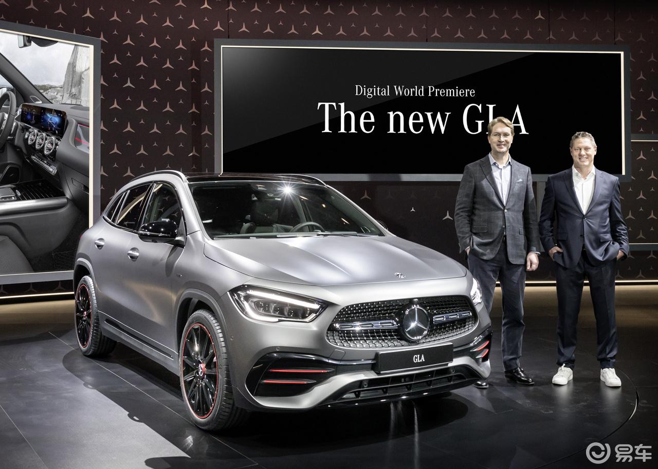 新一代GLA在海外正式发布,全新设计语言设计更像SUV!