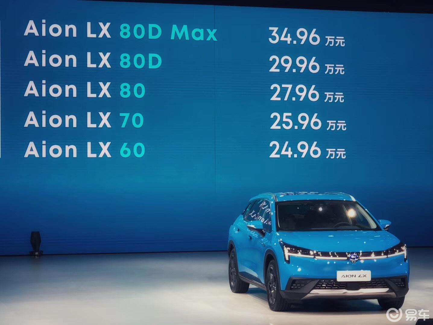 广汽新能源Aion LX上市 售24.96万元起