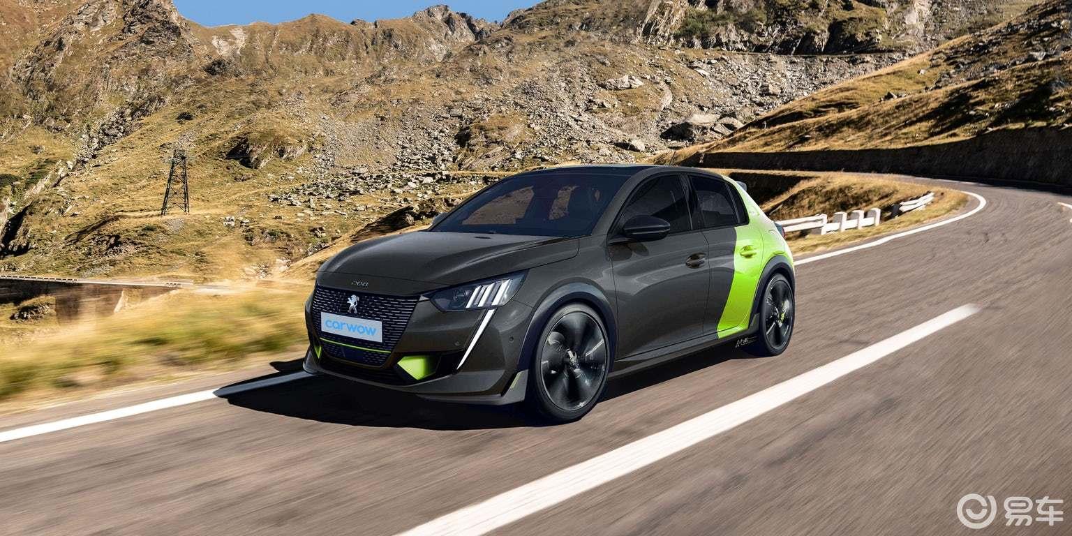 渲染的全电动标致208 GTe可替代GTi