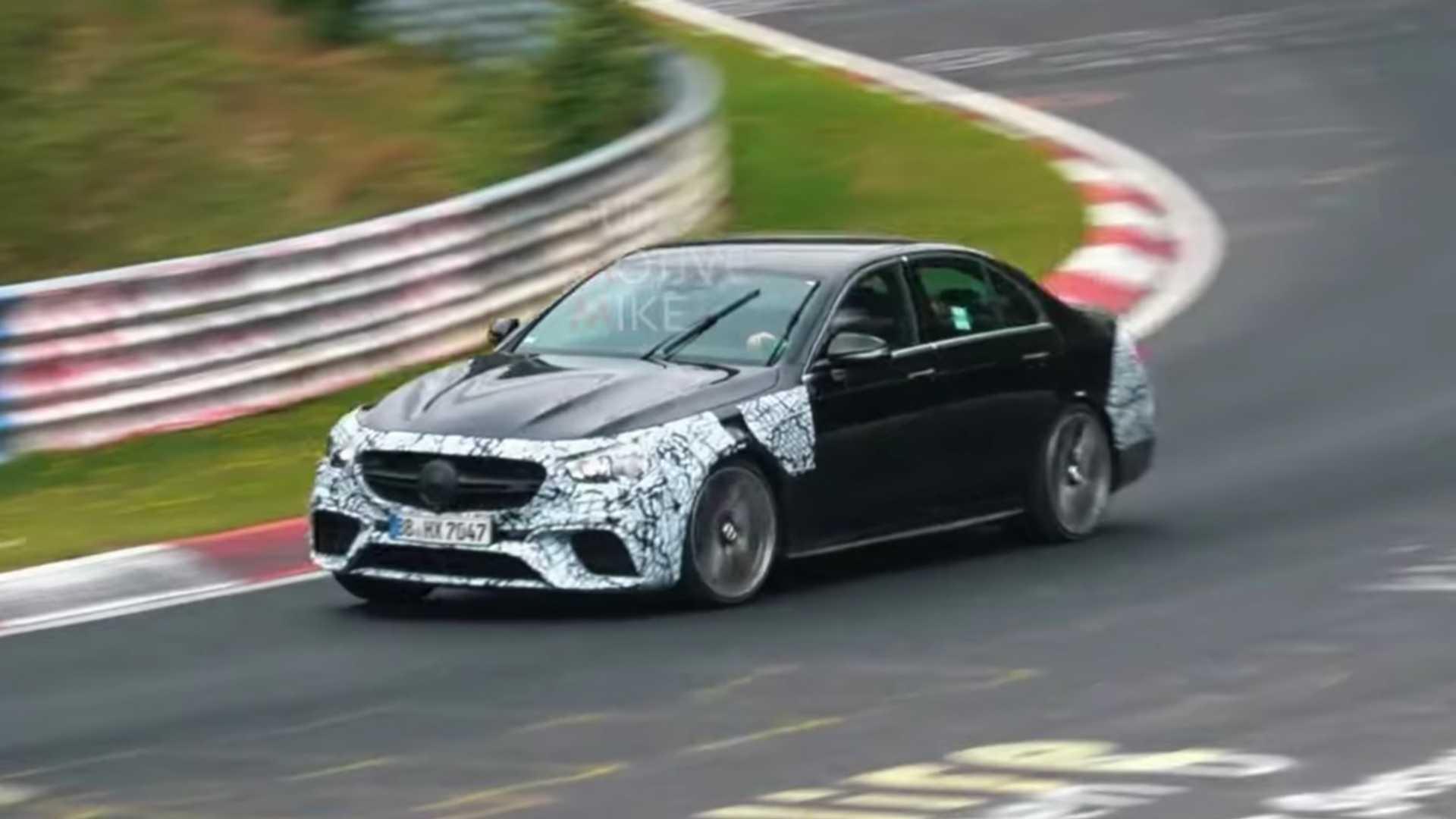 中期改款奔驰AMG E63谍照曝光,全新家族设计没用上?