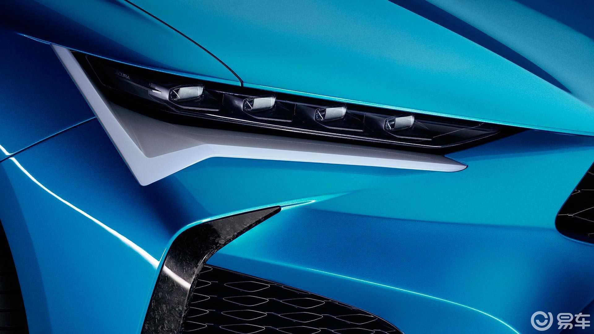 讴歌全新概念车发布,四门四驱跑车造型,外观更像NSX