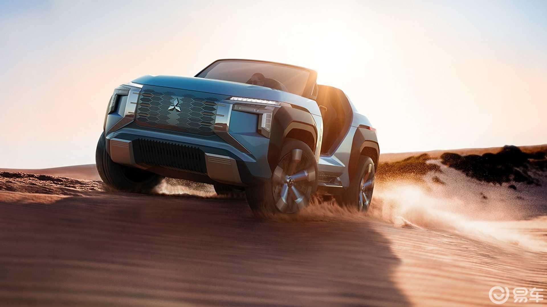 三菱Mi-Tech首次亮相,带燃气涡轮发动机的敞篷SUV