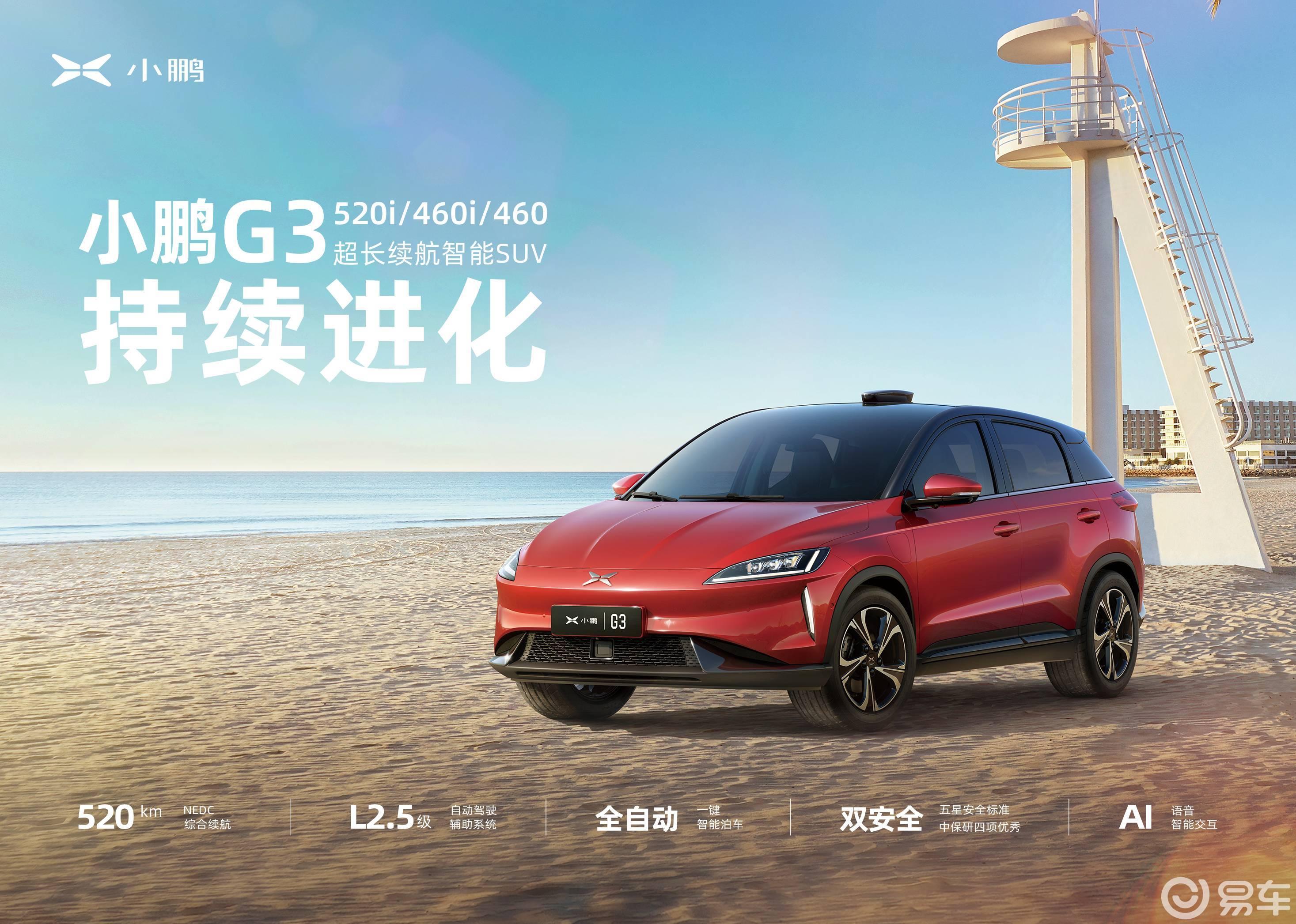 小鹏G3家族扩容,新增三个系列7款车型