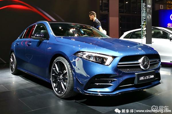 2019广州车展上市车型之:奔驰AMG A35L。