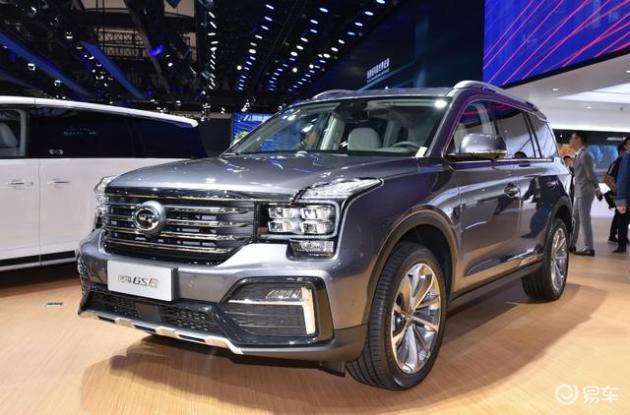 国产大七座SUV传祺GS8经典售价1558万元起