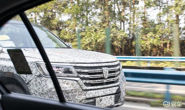 荣威全新中大型SUV路试谍照 轴距达2900mm
