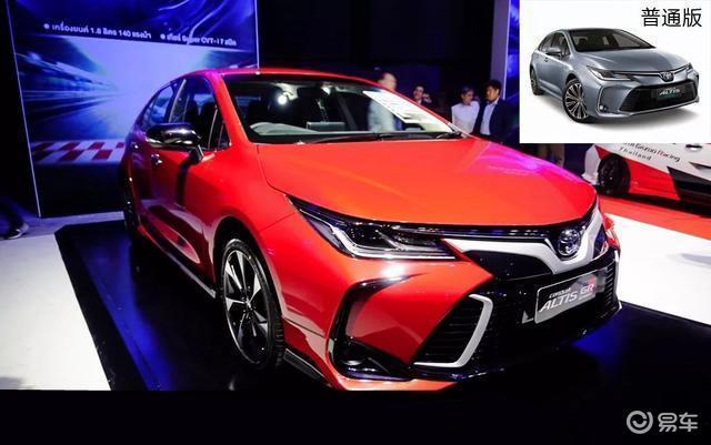 """最帅丰田""""卡罗拉"""",红色车身+专属套件,配1.8升发动机"""