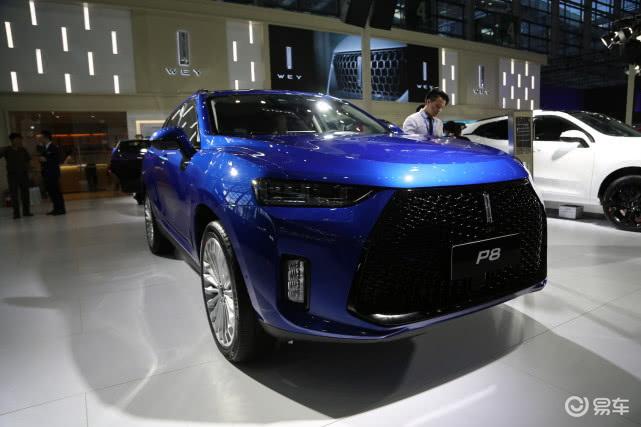 实拍WEY P8,插电混动豪华SUV,新能源SUV标杆!