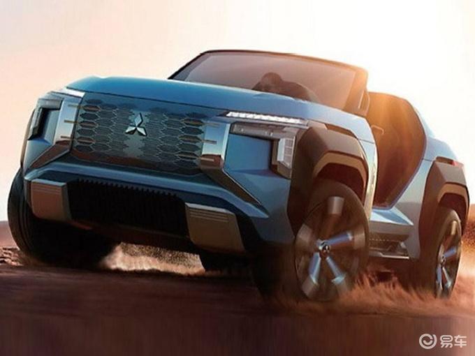 三菱新小型SUV预告图曝光 搭1.6L混动2天后发布