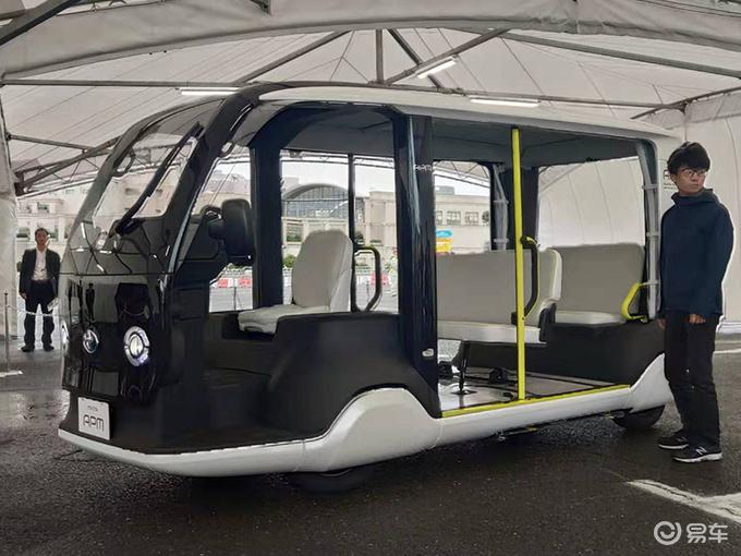 抢先看!东京奥运会摆渡车实拍 配自动驾驶系统