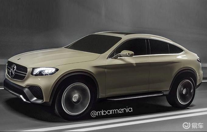 奔驰新GLC轿跑曝光 灯组重新设计/排气布局新颖