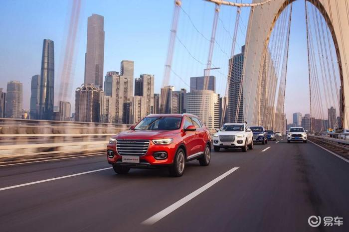 2020年1月SUV销量排行,哈弗H6险些失掉第一?