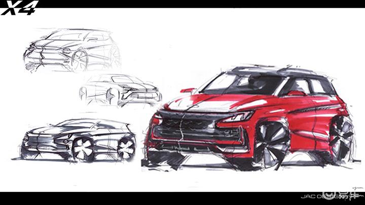 嘉悦X4设计草图曝光,江淮大众共线生产,将于下半年上市