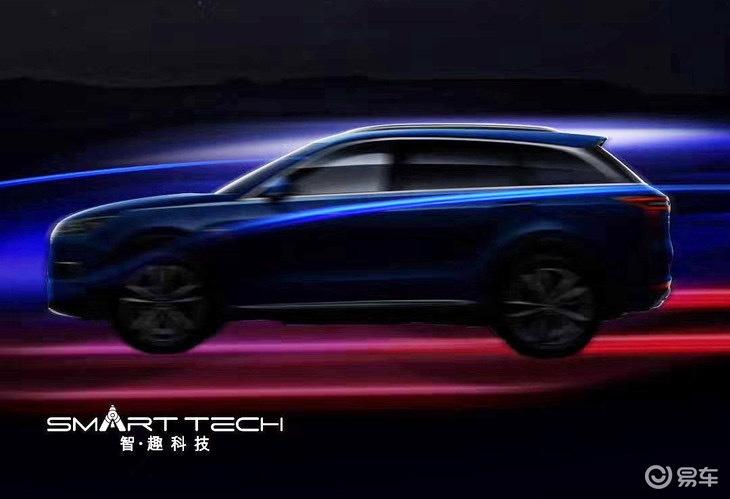 东风启辰全新SUV预告图发布 配悬浮式车顶 广州车展发布