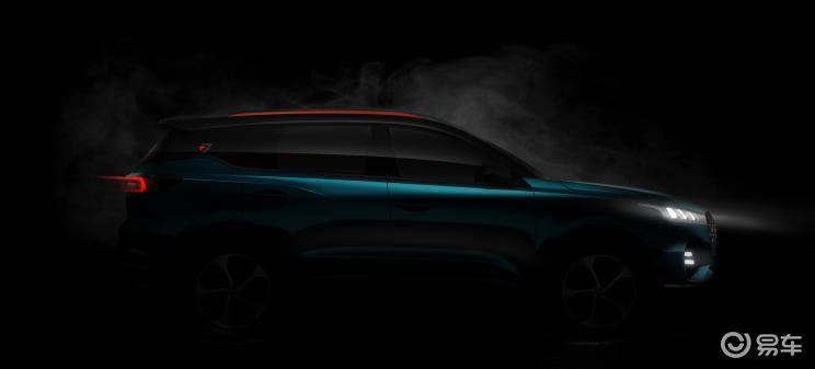 奇瑞新SUV预告图发布,搭瑞虎81.6T发动机