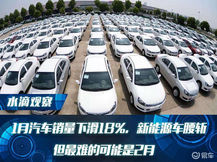 1月汽车销量下滑18%,新能源车腰斩,但最难的可能是2月