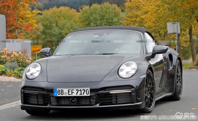 全新保时捷911 Turbo敞篷版谍照 将2020年上市