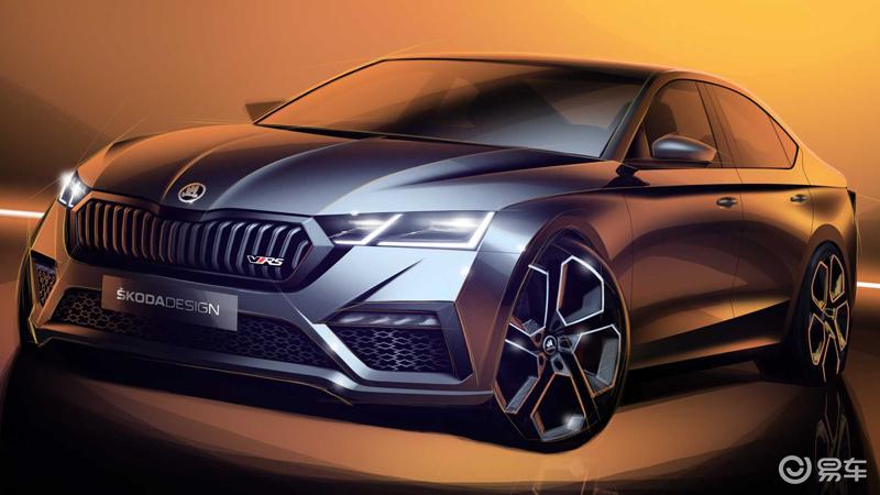 全新斯柯达明锐 RS设计图曝光 插混系统 日内瓦车展首发