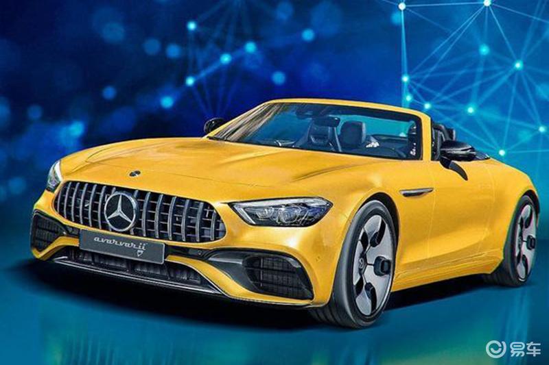 明年亮相 梅赛德斯-奔驰全新SL渲染图曝光