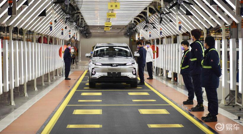 威马复工一周后 首批EX6 Plus车型顺利下线