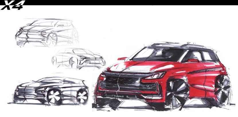 江淮嘉悦X4设计草图曝光 搭1.5T发动机 下半年上市