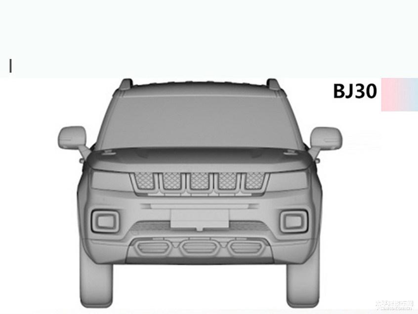 延续着硬汉派设计风格 北京BJ30专利图曝光
