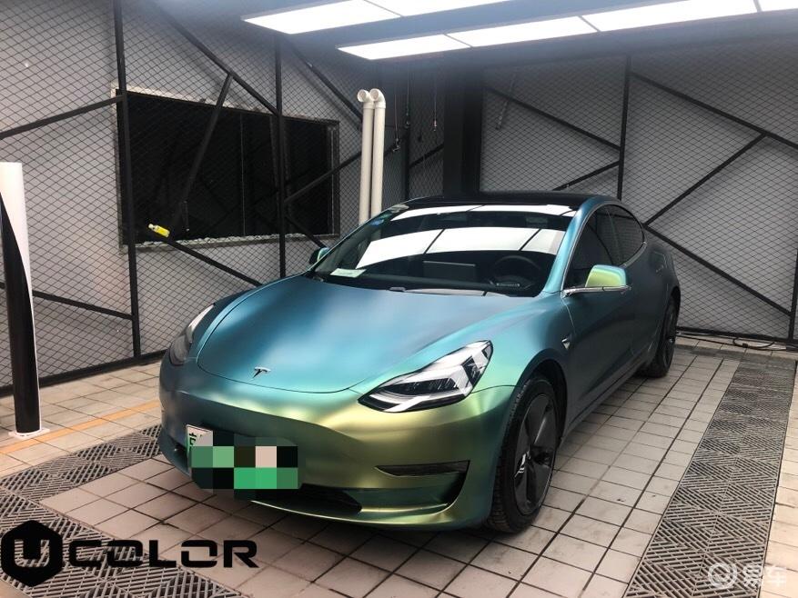 特斯拉车身改色完美交车
